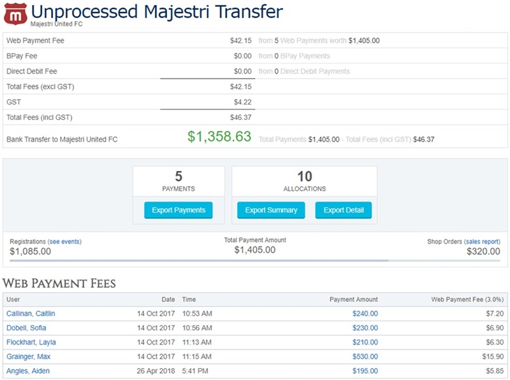 Bank Transfers Unprocessed